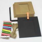 Picture frames Set of materials, Paper, black, white, 9.5cm x 9cm, 10 sheets