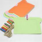 Picture frames Set of materials, Paper, green, orange, 14.5cm x 11cm, 10 sheets