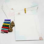 Picture frames Set of materials, Paper, white, 18.5cm x 13cm, 9 sheets