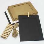 Picture frames Set of materials, Paper, white, black, 15.5cm x 11.5cm, 10 sheets