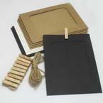 Picture frames Set of materials, Paper, white, black, 18cm x 13cm, 7 sheets