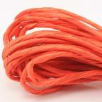 Paper ribbon, Red orange, 4m x 4mm
