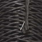 Paper cord with wire, grey, 15m x 2mm