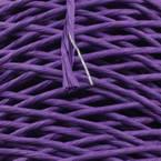 Paper cord with wire, Dark purple, 15m x 2mm