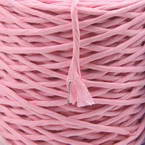 Paper cord with wire, pink, 15m x 2mm