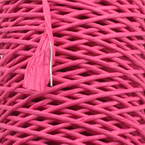 Paper cord with wire, Magenta, 15m x 2mm