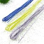 Paper cord with wire, Dark blue, Light purple, Yellow, Long 7m - 8m, Diameter 2mm