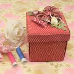 Sewing Baskets, red, 8.5cm x 8.5cm x 10cm