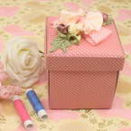 Sewing Baskets, pink, 8.5cm x 8.5cm x 10cm