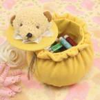 Sewing Baskets, Yellow, 14cm x 14cm x 15cm