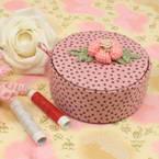 Sewing Baskets, pink, 10cm x 10cm x 4.5cm