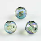 Beads, Auralescent Crystal, Crystal, Multi colour AB, Faceted spherical, Diameter 8mm, 2 Beads