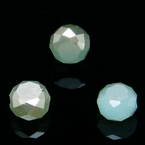 Beads, Auralescent Crystal, Crystal, Light blue AB, Light brown , Faceted Discs, 8mm x 8mm x 5mm, 8 Beads