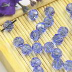 Beads, Auralescent Crystal, Crystal, Royal blue , Faceted Rounds, Diameter 6mm, 10 Beads