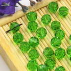 Beads, Auralescent Crystal, Crystal, Green , Faceted Rounds, Diameter 6mm, 10 Beads