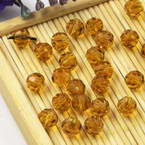 Beads, Auralescent Crystal, Crystal, Brown , Faceted Rounds, Diameter 6mm, 10 Beads