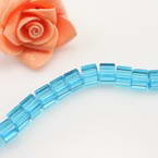Crystal beads, Auralescent Crystal, Crystal, Light blue, Cube, 8mm x 8mm, 40 Beads