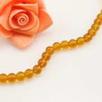 Crystal beads, Auralescent Crystal, Burnt orange, Round shape, Diameter 6mm, 50 Beads