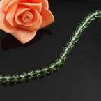 Crystal beads, Auralescent Crystal, Light green, Round shape, Diameter 6mm, 50 Beads