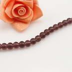 Crystal beads, Auralescent Crystal, Dark purple, Round shape, Diameter 6mm, 50 Beads
