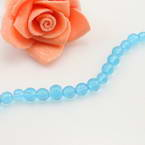 Crystal beads, Auralescent Crystal, Royal blue, Round shape, Diameter 6mm, 50 Beads