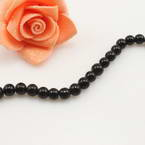 Crystal beads, Auralescent Crystal, Crystal, black, Round shape, Diameter 6mm, 50 Beads