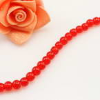 Crystal beads, Auralescent Crystal, Burgandy, Round shape, Diameter 6mm, 50 Beads