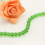 Crystal beads, Auralescent Crystal, Crystal, green, Round shape, Diameter 6mm, 50 Beads