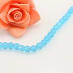 Crystal beads, Auralescent Crystal, Royal blue, Round shape, Diameter 5mm, 50 Beads