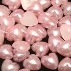 Acrylic Flat back, Plastic, pink, 6mm x 6mm x 3mm, 50 pieces (approximate)