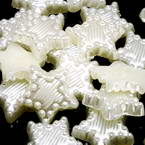 Acrylic Flat back, Plastic, Cream colour, 11mm x 11mm x 2mm, 20 pieces