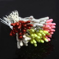 Flower stamen, white, Burgandy, 100 pieces (approximate)