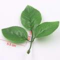Rose leaf, Plastic, Dark green, 5.5cm x 3.7cm, 10 pieces