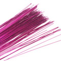 Florist wires, Magenta, 20 pieces, Length 80cm, Diameter 0.6mm (approximate), Gauge 22