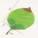 Peony leaf, Cloth and Plastic, green, Burgandy, 14cm x 10cm, 10 pieces